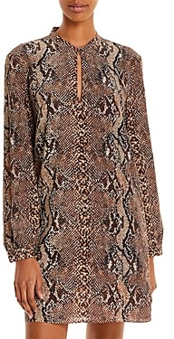 Joie Allena Silk Snake Print Short Dress