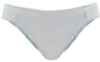 Araks Yahvi Silk-blend Satin And Cotton Briefs - Light Blue