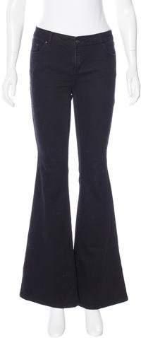 Rachel Zoe Flared Mid-Rise Jeans