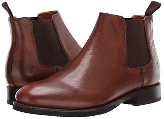 Frye Peyton Chelsea (Brown Waxed Dip-Dye) Men's Shoes