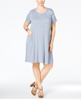 ING Trendy Plus Size Pocketed T-Shirt Dress