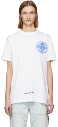 Off-White White Glow-In-The-Dark 3D Cross T-Shirt