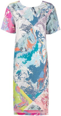Raeburn multi map T-shirt dress