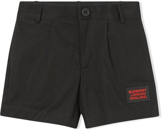 BURBERRY KIDS Twill Tailored Shorts