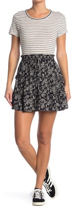 GOOD LUCK GEM Floral Tiered Skirt