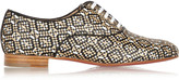 Christian Louboutin Fred metallic woven leather brogues