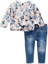 Jessica Simpson French Terry Top & Pant Set (Baby Girls)