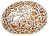 Pomellato Arabesque Pavé Diamond Dome Ring in 18K Gold