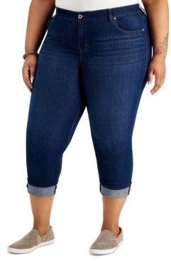 Style&Co. Style & Co Plus Size Tummy Control Capri Jeans, Created for Macy's