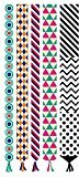 Body Art Temporary Removable Tattoo Stickers Colourful Patterns Sticker Tattoo - FashionDancing