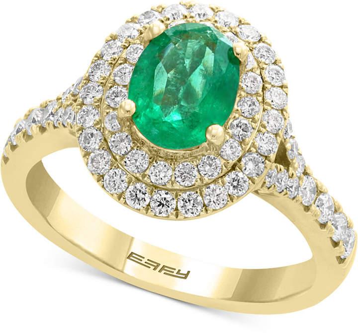 Effy Emerald (1-1/8 ct. t.w.) & Diamond (3/4 ct. t.w.) Ring in 14k Gold