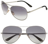 Tom Ford Women's 'Charles' 62Mm Aviator Sunglasses - Palladium