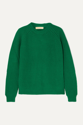 &Daughter Moira Ribbed Wool Sweater - Green