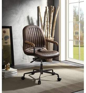 17 Stories Kiska Genuine Leather Executive Chair 17 Stories