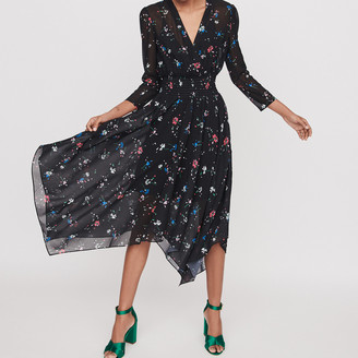 Maje Printed-muslinscarf dress