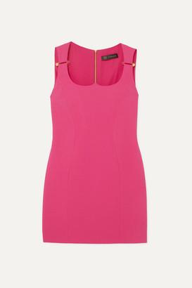 Versace Embellished Crepe Mini Dress - Pink