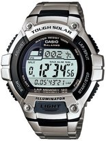 Casio Men's WS220D-1AV Silver Stainless-Steel Quartz Watch with Digital Dial
