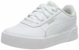Puma Girls' Carina L PS Sneaker White-Peachskin 1.5 UK