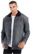 True Religion Elongated Turner Mens Sherpa Denim Jacket