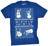 Crazy Dog T-shirts Crazy Dog Tshirts Mens Drunk Snowmen Ugly Christmas Sweater Funny T shirt ROYAL