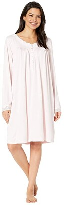 Eileen West Sweater Knit Short Nightgown (Rose) Women's Pajama