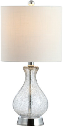 Jonathan Y Designs Playa 21In Metal Bubble Glass Led Table Lamp