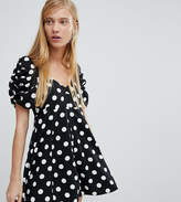 Monki Polka Dot Fit And Flare Dress