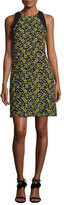 Carmen Marc Valvo Sleeveless Daisy Cocktail Dress, Yellow/Multicolor