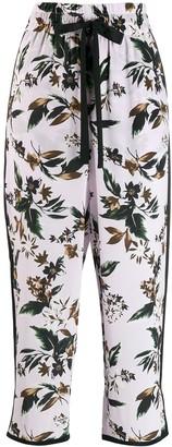 Dvf Diane Von Furstenberg Floral Cropped Trousers