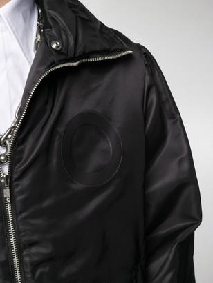 Random Identities Wide Collar Padded Jacket