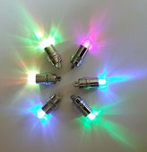 SumDirect 24/50/100 Pack Multicolor LED Submersible Waterproof Mini Blinking Lights for Paper Lantern Balloon Floral Wedding Halloween Christmas Party Decoration Centerpieces (24)