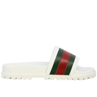 Gucci Pursuit Rubber Sandal With Web Band