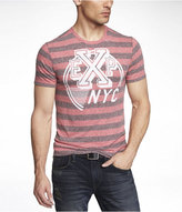 Express Tri-Blend Graphic Tee - Striped Exp