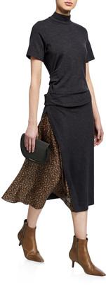 Brunello Cucinelli Wool Jersey Mock-Neck Dress