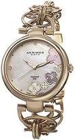 Akribos XXIV Women's Quartz Watch with Mother of Pearl Dial Analogue Display and Gold Alloy Bracelet AK645YG