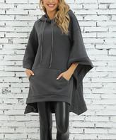Z Avenue Women's Sweatshirts and Hoodies Magnet - Magnet Cape-Sleeve Hooded Poncho - Women & Plus