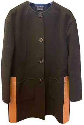 Fendi Black Wool Coat for Women