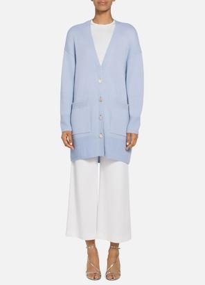 St. John Luxe Cashmere Drop Shoulder Cardigan