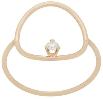Zoë Chicco 14kt Yellow Gold Diamond Circle Ring