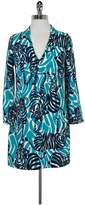 Lilly Pulitzer Teal Zebra Print VNeck Dress