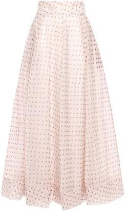 By Ti Mo Bytimo Flared Polka-dot Organza Maxi Skirt