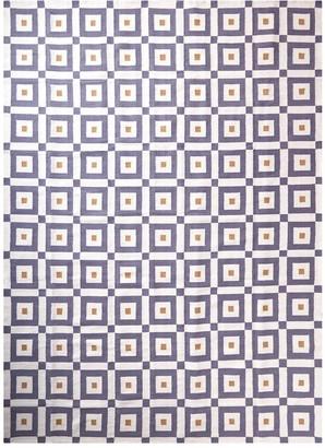 Jonathan Adler Camel/Grey Albert Reversible Peruvian Flat Weave Rug