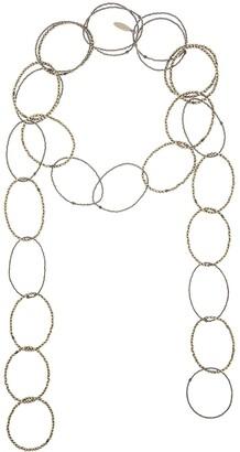 Brunello Cucinelli Bead Hoop Scarf Necklace