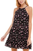 Thumbnail for your product : Trixxi Juniors' Floral-Print Tiered Halter Dress