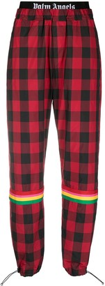 Palm Angels Buffalo Aftersport check trousers