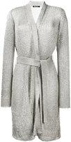 Balmain tie-waist knitted jacket - women - Polyamide/Polyester/Viscose - 44