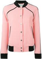 Kenzo contrast hem bomber jacket - women - Polyamide/Polyester/Spandex/Elastane/Triacetate - XS