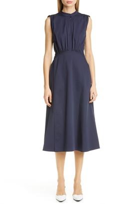 Sies Marjan Cotton Poplin A-Line Midi Dress