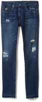 Gap FOUR-WAY STRETCH 1969 destructed skinny fit jeans