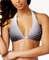 Vince Camuto Miter-Stripe Triangle Bikini Top